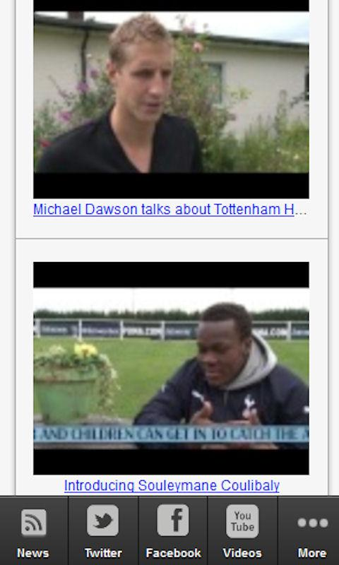 Tottenham Hotspurs Fan News - screenshot