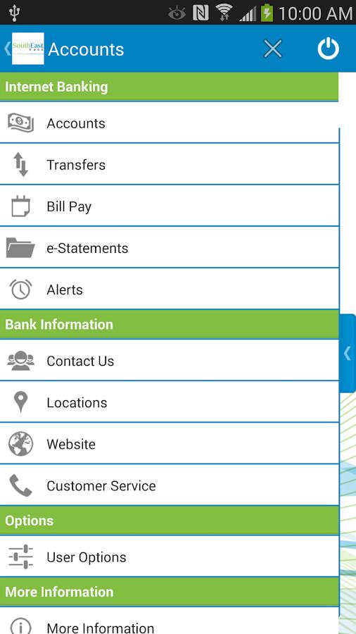 SouthEast Bank Mobile Banking - screenshot