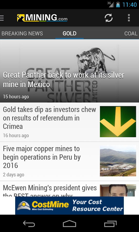 Mining News from MINING.com - screenshot