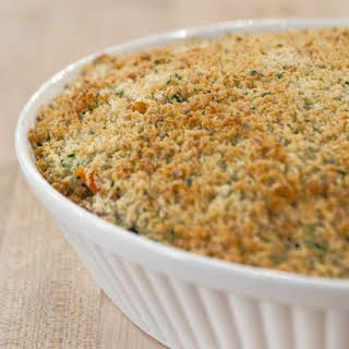 Fall Vegetable and Orzo Casserole.
