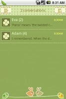 Screenshot of Easy SMS Lucky Clover theme