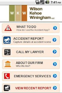 WKW Auto Accident App - screenshot thumbnail