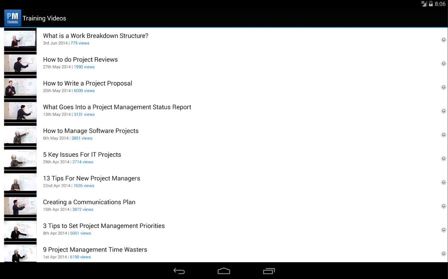 Project management training android apps on google play project management training screenshot xflitez Gallery