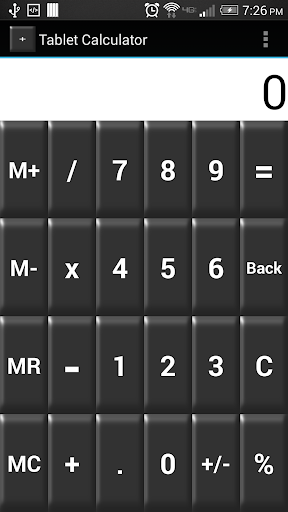 Tablet Calculator