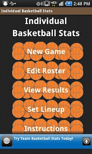 Individual Basketball Stats- screenshot thumbnail