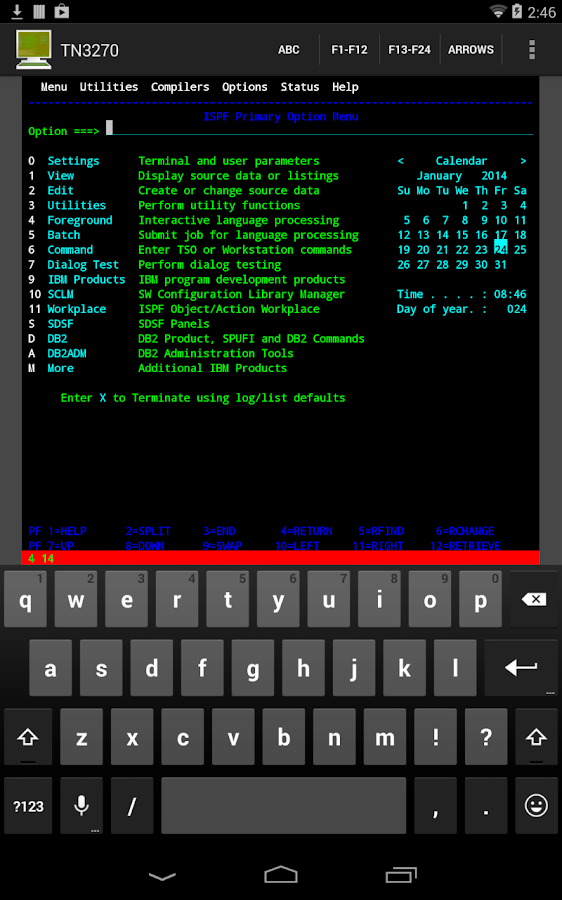 Mocha TN3270 Lite- screenshot