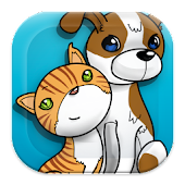 Cat vs Dog: Coloring Game