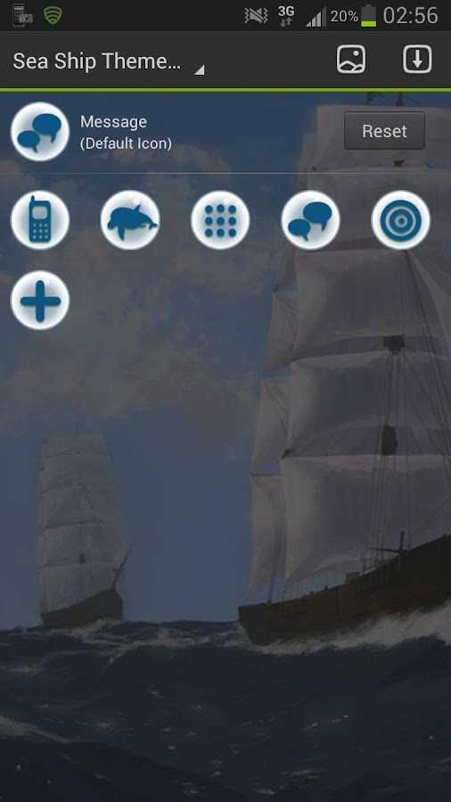 GO Launcher EX Theme Sea Ship - screenshot