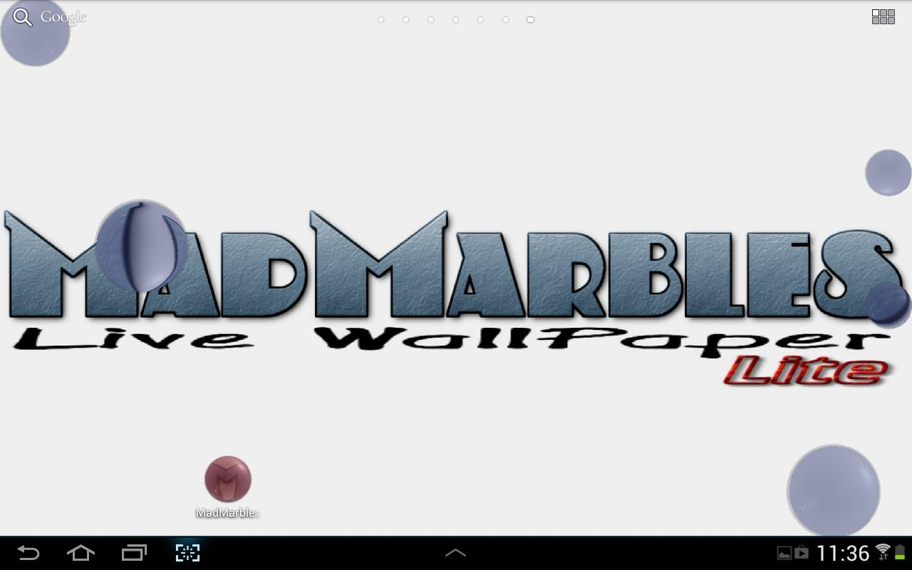 Mad Marbles Lite LWP - screenshot