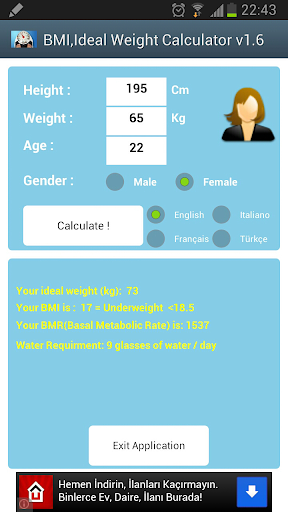 BMI Ideal Weight Calculator