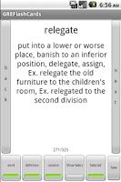 Screenshot of GRE Vocabulary FlashCards Free