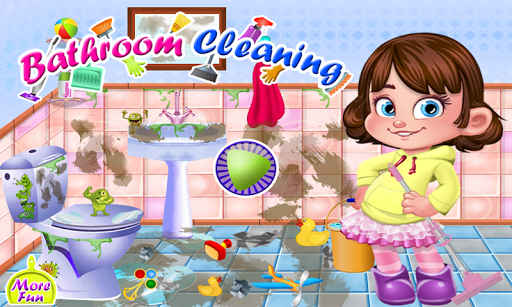 Bathroom cleaning girls games