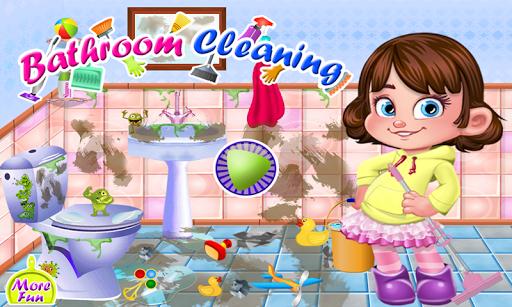 浴室クリーニング女の子のゲーム