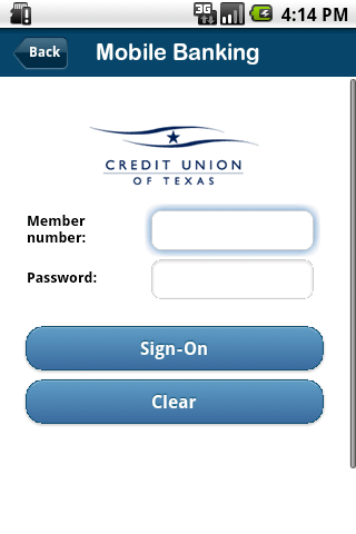 Credit Union of Texas Mobile - screenshot
