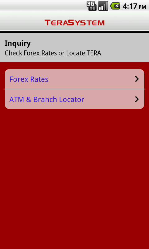 TeraSystem Mobile Banking - screenshot