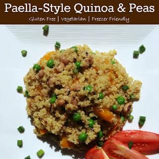 Paella-Style Quinoa and Peas {Vegetarian}.