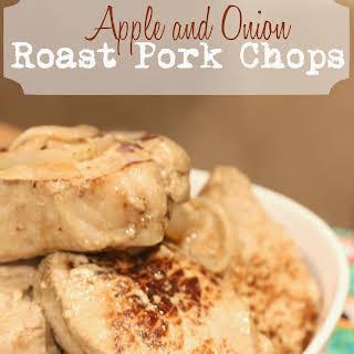 Apple and Onion Roast Pork Chops..