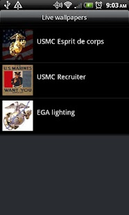Marine Corps Live Wallpapers - screenshot thumbnail