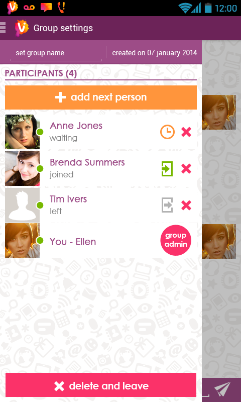 Vippie - free calls & messages - screenshot