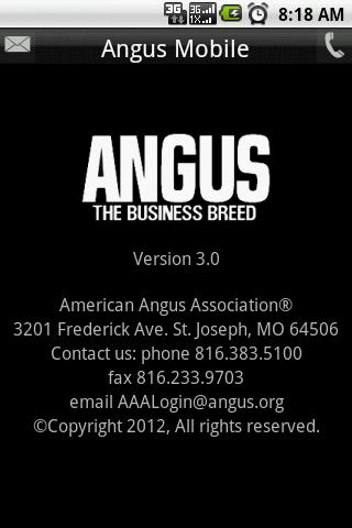 Angus Mobile- screenshot