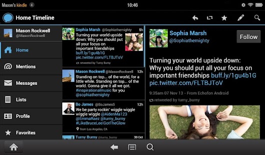 Echofon for Twitter- screenshot thumbnail
