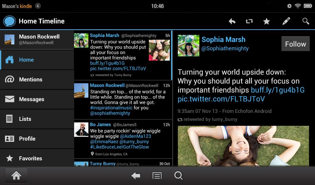 Echofon for Twitter - screenshot