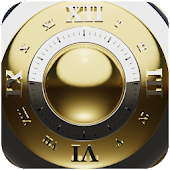 Gold deluxe clock widget