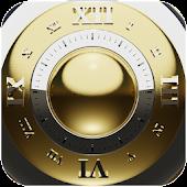 Gold Deluxe Clock Widget