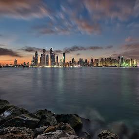 City Lights, my Dubai by Vic Pacursa - City,  Street & Park  Skylines ( cityscapes, landscape photography, city lights, seascape, sunrise, asian, city that never sleeps )