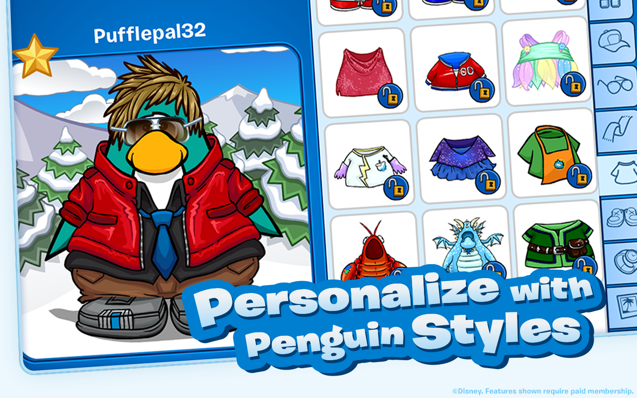 Screenshots of Club Penguin for iPhone