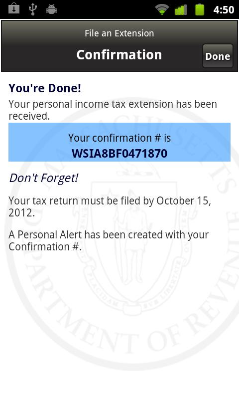 Massachusetts WebFile Mobile- screenshot