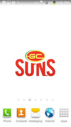 Gold Coast SUNS Spinning Logo