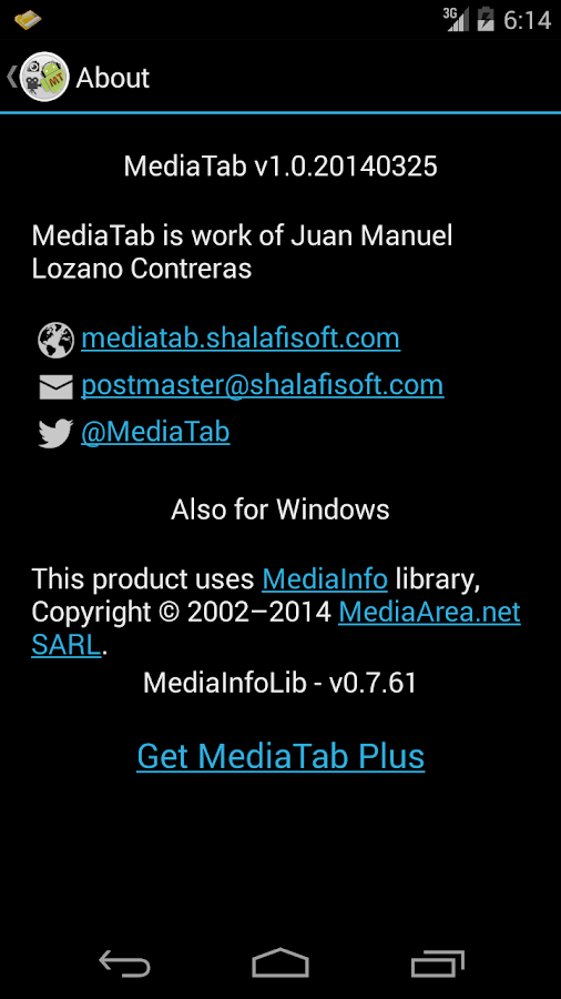MediaTab- screenshot