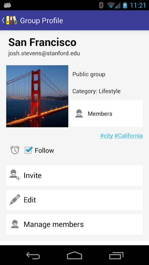 MyGroups- screenshot