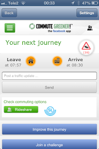 Commute Greener – smarter ways screenshot 1