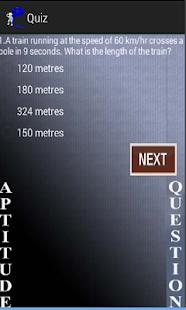 Aptitude Quiz screenshot