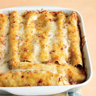 Lighter Chicken Enchiladas.