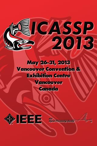 2013 IEEE ICASSP - screenshot