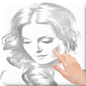 Finger Pencil Sketch icon
