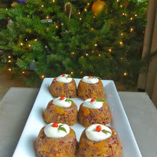 Christmas Pudding With Brandy Cream.