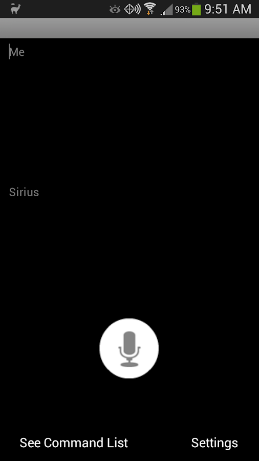 Sirius Voice (English) - screenshot