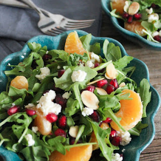 Pomegranate, Clementine and Ricotta Salad with Toasted Almonds and Avocado (aka Antioxidant Salad).