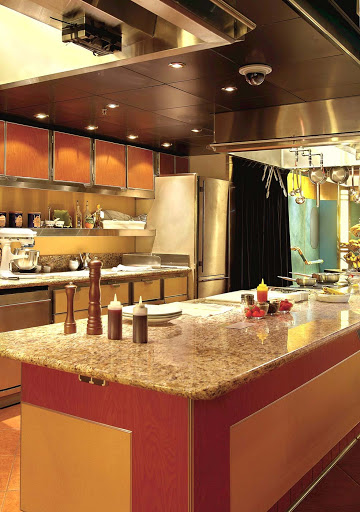 Holland-America-SClass-Culinary-Class - The Culinary Arts Center classroom and kitchen aboard Holland America's  Ryndam