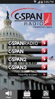 Screenshot of C-SPAN Radio