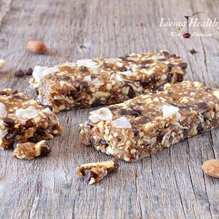 Chocolate Chip Cookie Dough Granola Bars (paleo, gluten, grain free)