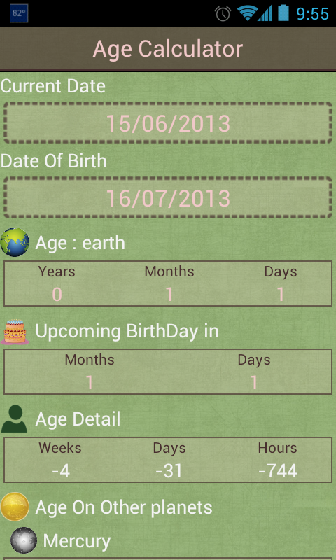 Age Calculator (Planets) APK 2 0 Download - Free