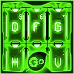 GO Keyboard Green Tech Theme