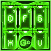 GO Keyboard Green Tech Theme