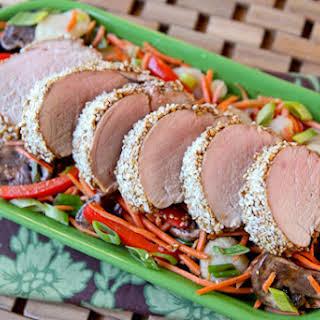 Simple Sesame-Crusted Pork Tenderloin.