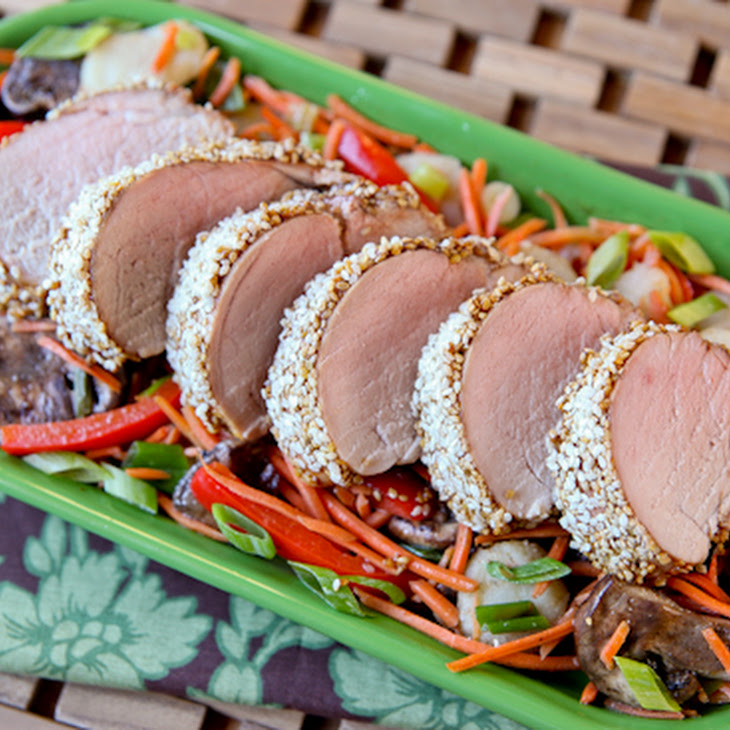 Simple Sesame-Crusted Pork Tenderloin